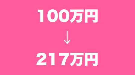 【資産状況】仮想通貨投資半年で、資金100万円が217万円にまで上昇