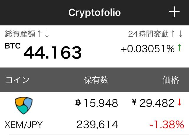 【Cryptofolio】国産の仮想通貨ポートフォリオ管理アプリが登場。Blockfolioと同じ操作性でサクサク動く!