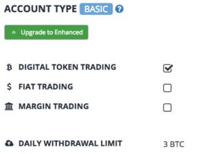Bittrexの出金限度額を3BTCに引き上げる方法/BASICアカウントへのアップグレード